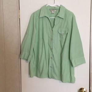 Allison Daley plus size button up blouse